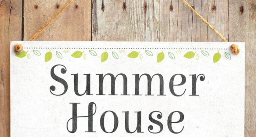 Summer House Cute Shabby Chic Style Conservatory Sign