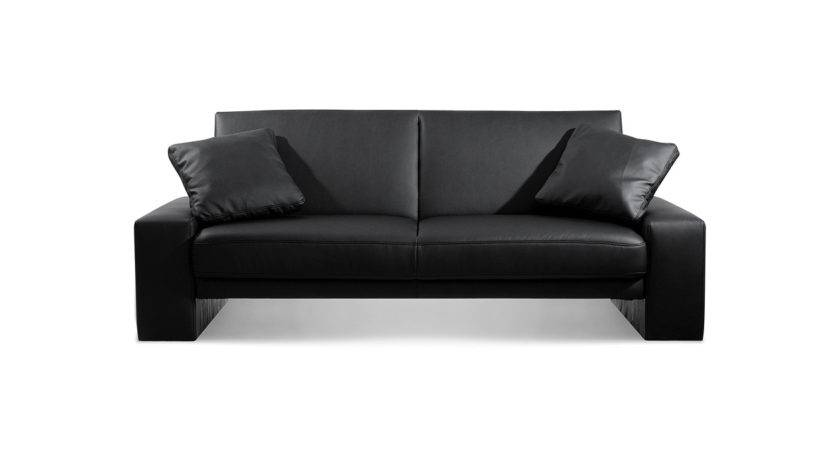 Supra Sofa Bed Settee Faux Leather Black Sofas
