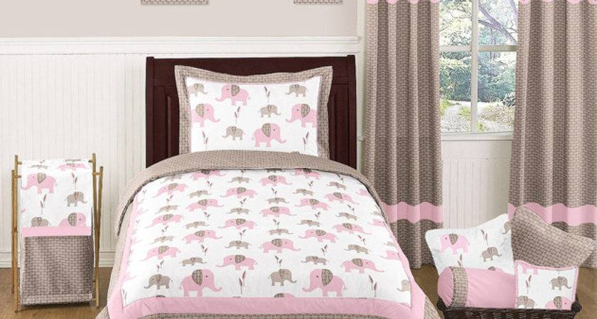 Sweet Jojo Designs Discount Girl Pink Brown Elephant