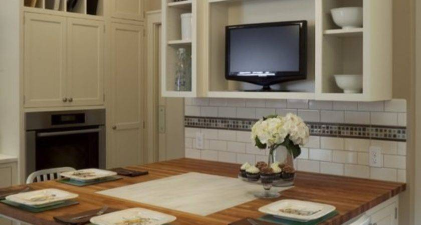 Table Against Wall Kitchen Design Ideas Remodel