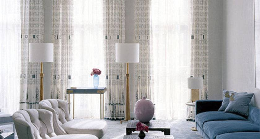 Taupe Blue Living Room Modern House