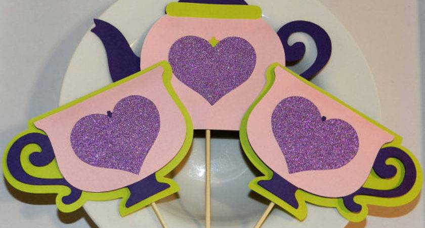 Tea Party Table Decorations Pink Purple
