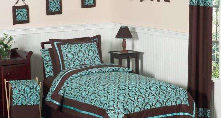 Teal Brown Bedding Product Selections Homesfeed