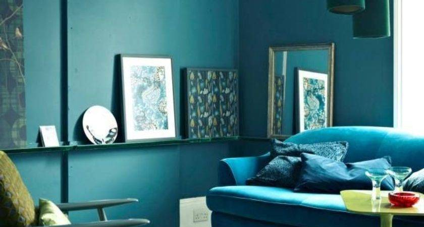 Teal Brown Decor Lounge Ideas