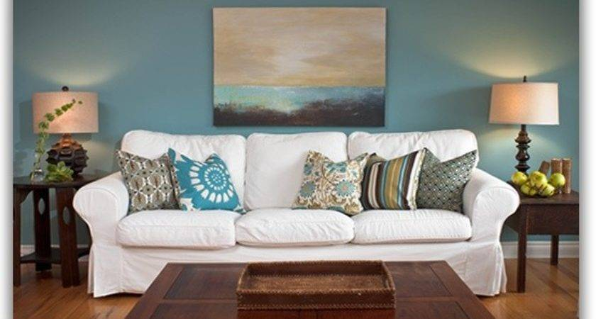 Teal Brown Living Room Decorating Clear