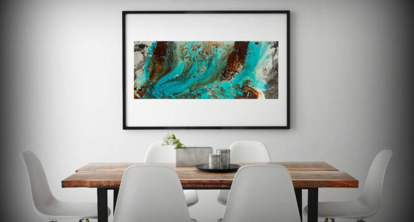 Teal Brown Wall Art Takuice