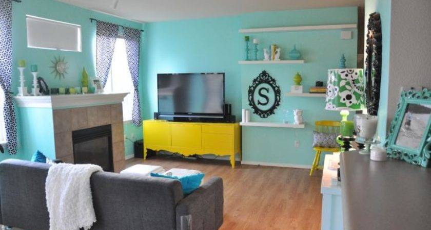 Teal Grey Yellow Decor Euffslemani