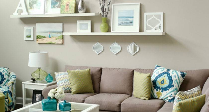 Teal Lime Living Room Love Wall Display Canvases