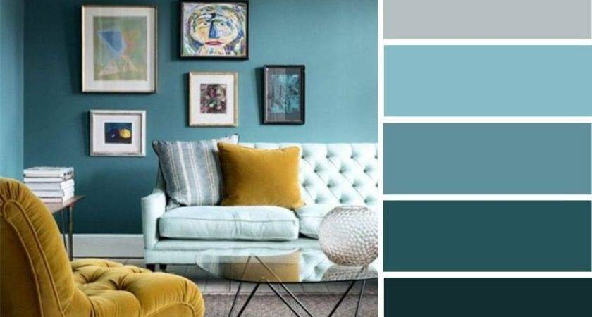 Teal Mustard Sitting Room Home