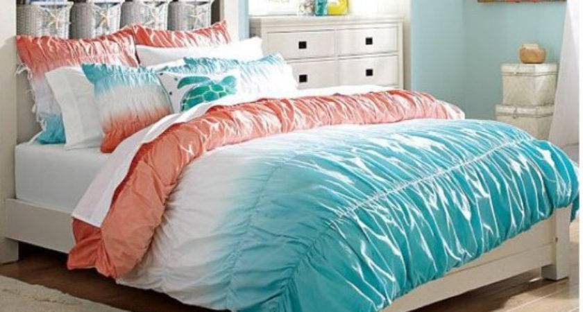 Teal Orange Bed Set Hunt