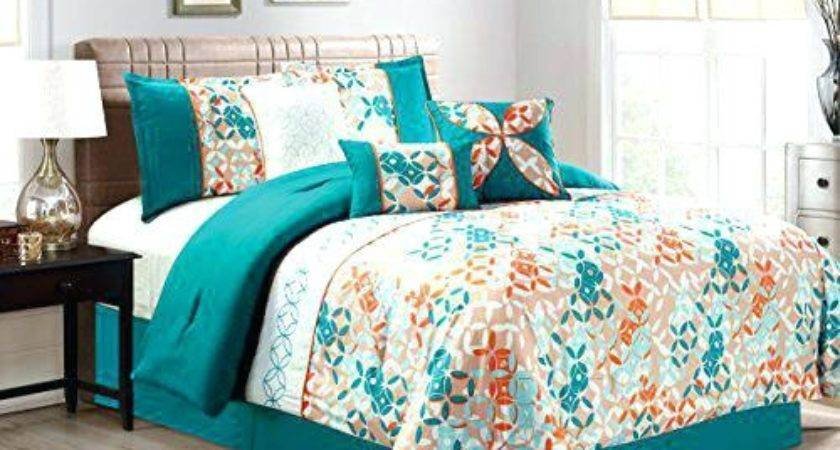 Teal Orange Bedding Brvnarevaha