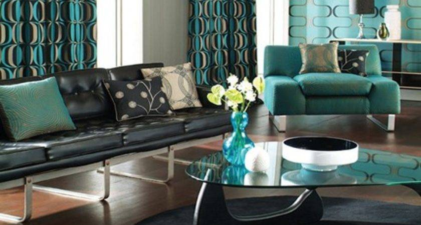 Teal Room Designs Black Abstract