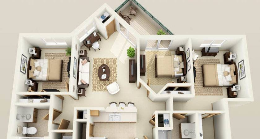 Three Bedroom Apartments Designs Your Perfect Living