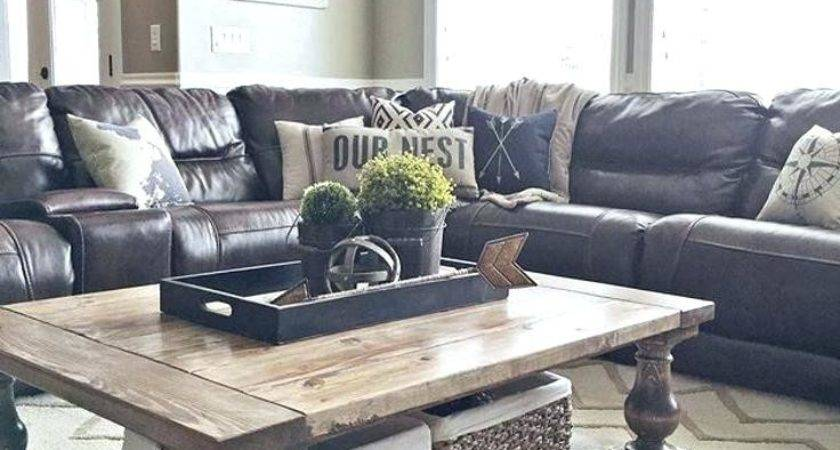 Throw Pillows Black Leather Couch Thegrated