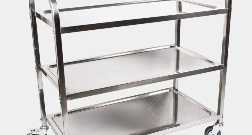 Tier Food Trolley Cart Stainless Steel Utility Kitchen
