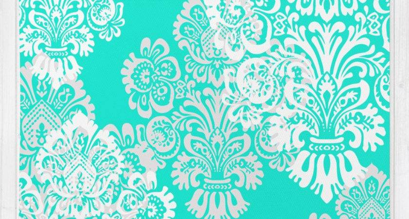 Tiffany Blue White Damask Rug Kimpressions Society