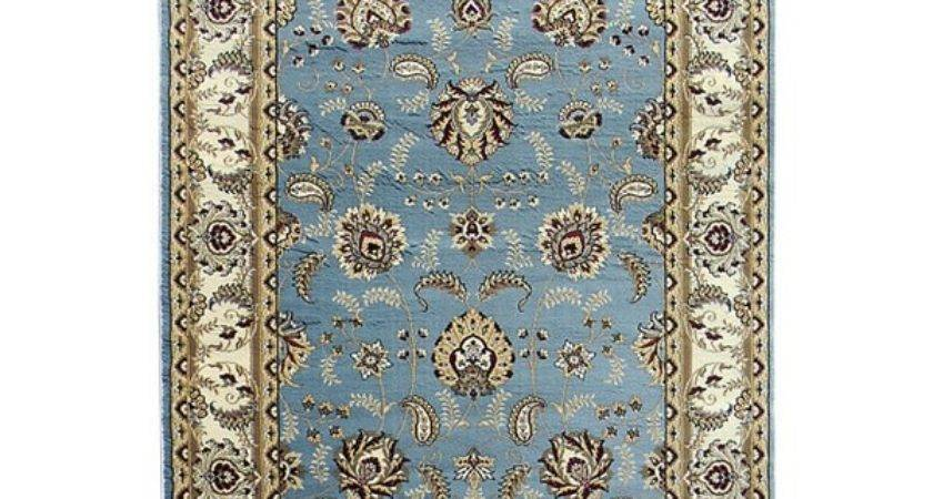 Tiffany Sky Blue Oriental Area Rug