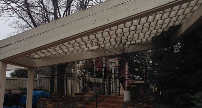 Timber Pergola Replaces Year Old Metal Wood