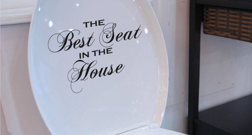 Toilet Seat Decal Best House Wall Art Funny