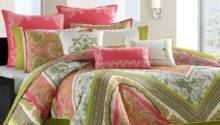 Total Fab Coral Colored Comforter Bedding Sets