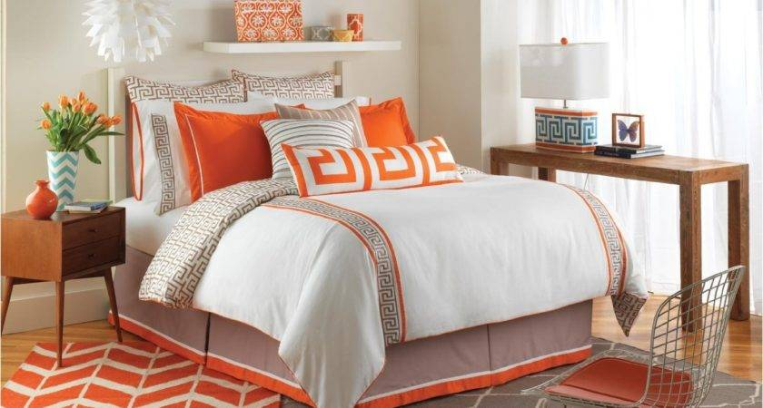 Total Fab Orange Grey Bedding Sets