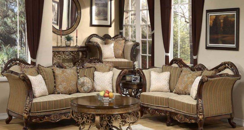 Traditional Antique Style Formal Living Room Furniture Set