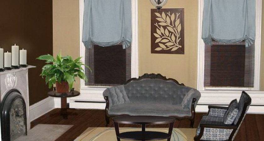 Traditional Brown Blue Living Room Ideas Home