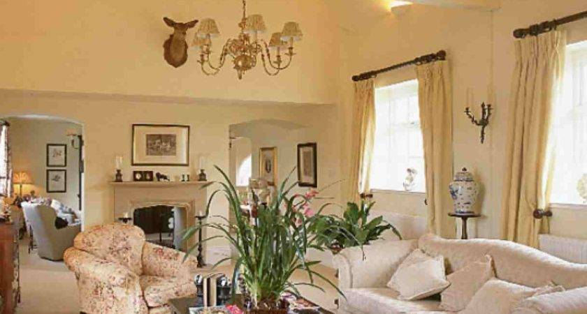 Traditional Sitting Room Beige Cream Color Paint Living