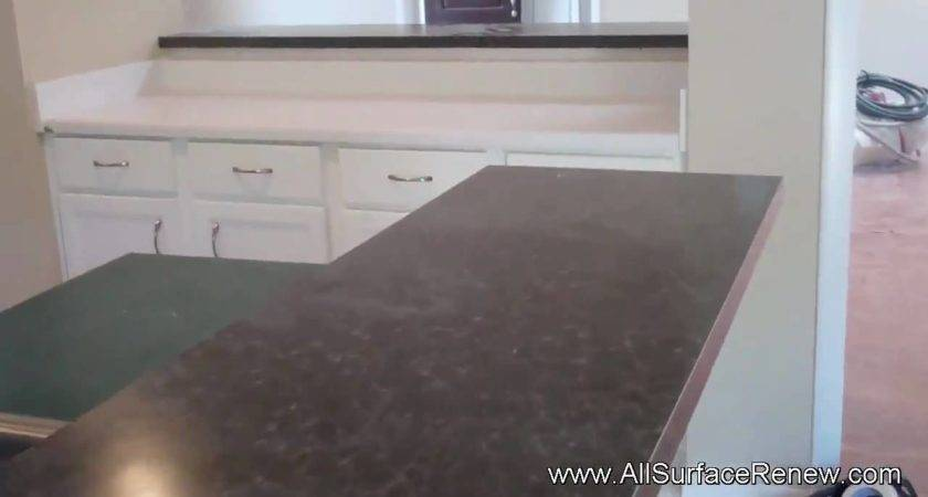 Transforming Color Old Corian Counters