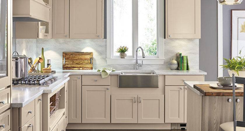 Transitional Kitchen Beige Cabinets Diamond Cabinetry