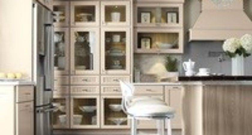 Transitional Kitchen Beige Cabinets Kemper Cabinetry