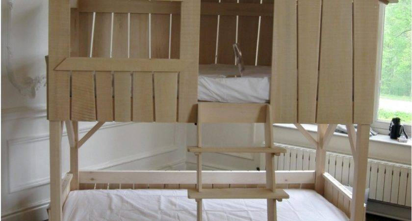Tree House Bunk Beds Alluring Twin Over