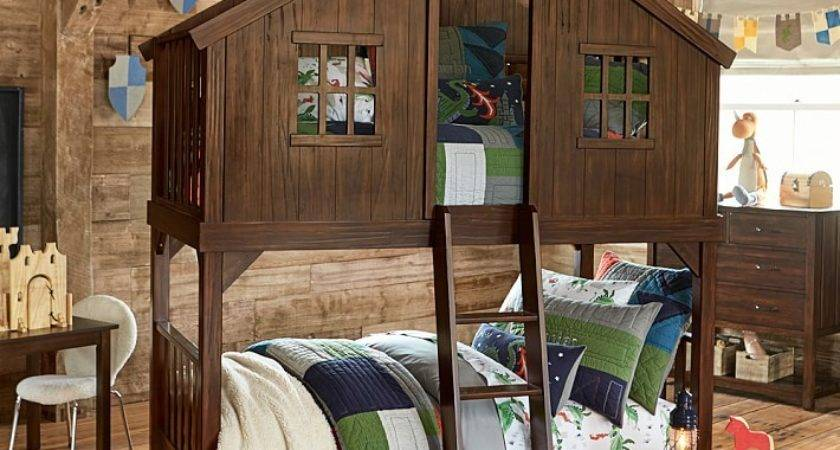 Tree House Twin Over Bunk Bed Goodglance