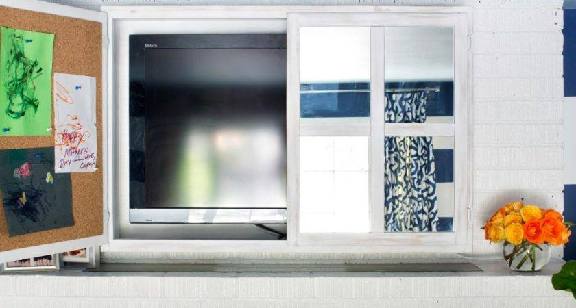 Turn Kitchen Cabinet Into Flat Screen Cover Hgtv