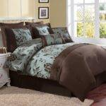 Turquoise Brown Bedding Teal