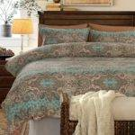 Turquoise Brown Khaki Classic Baroque Style Shabby