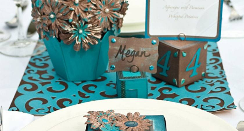 Turquoise Brown Wedding Decorations Favecrafts