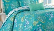 Turquoise Gold Bedding Beachcomber Ocean