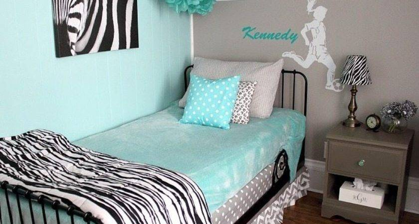 Turquoise Grey Bedroom Decorate House