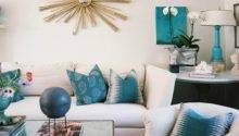 Turquoise Lamps Contemporary Living Room Lonny Magazine