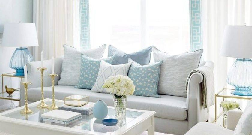 Inspiring Turquoise And White Living