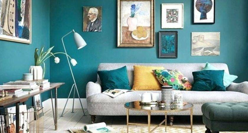 Turquoise Yellow Bedroom Living