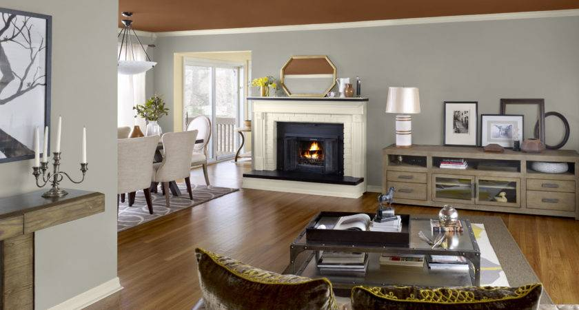 Two Color Living Room Walls Home Combo