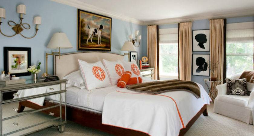 Two Tone Curtains Transitional Bedroom Liz Caan