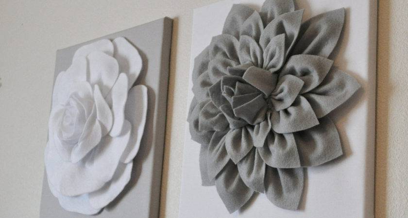 Two Wall Flowers Gray Dahlia White Rose