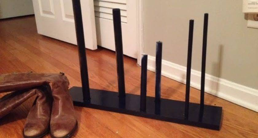 Two Yourself Diy Boot Rack Minutes