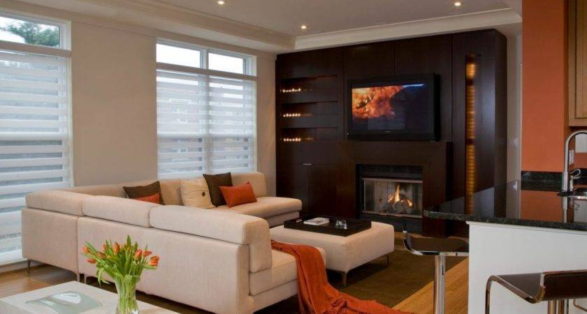 Ultramodern Fireplaces Living Room Dining