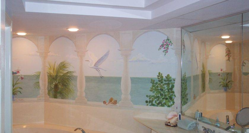 Unique Bathroom Wall Murals Additional Home
