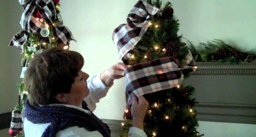 Using Ribbon Your Christmas Tree Youtube