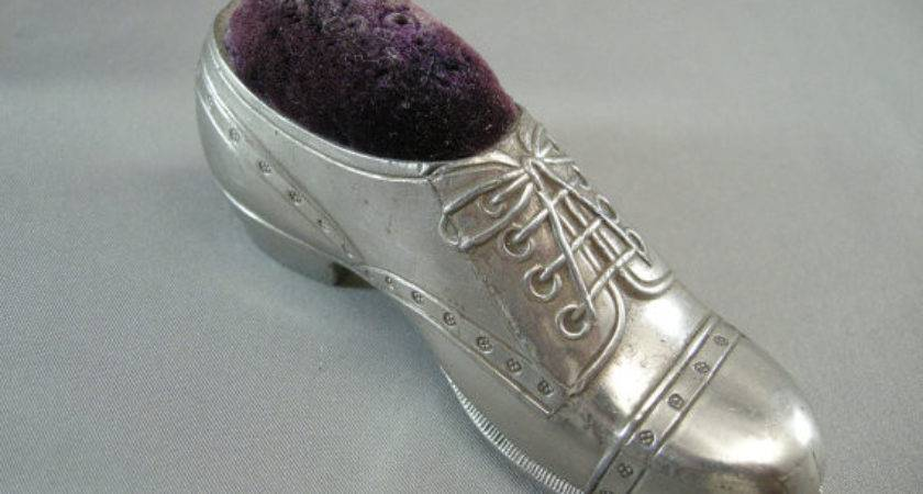 Vintage Art Deco Shoe Pin Cushion Cerritorose Etsy